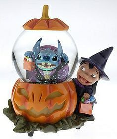Lilo and Stitch Halloween Snow Globe
