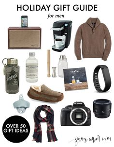 Holiday Gift Guide for Men: Over 50 of the best gifts for all of the men in your life.