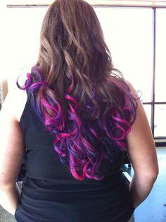 I so want these colors!!! I wish I had long hair