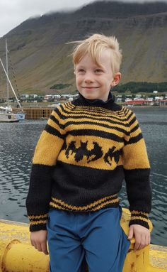 boys kids icelandic sweater, photo from gusta lopi knitting pattern, fuzzy fluffy childs childrens lopapeysa nordic