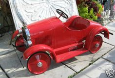 Antique 1927 Speedster Pedal Car | eBay...Only $3500.00 folks..take a ride in your dreams.  Wish we had taken better care of our toys.