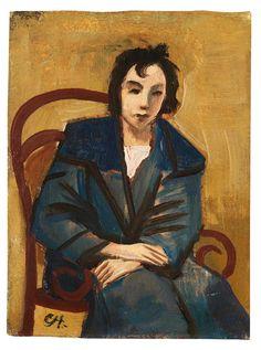 KARL HOFER Mädchen im Sessel (Girl in Chair, 1924)