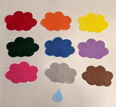 Diy Busy Books, Felt Stories, Flannel Friday, Rain Drops, Story Time, Early Childhood, Simple, Board, Projects