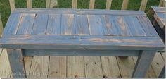 simple 2x4 bench made from reclaimed lumber