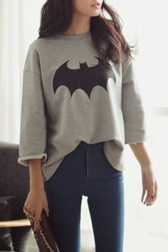 @Karen Darling/STALK www.stylestalk.com Holy Batman Sweatshirt $69