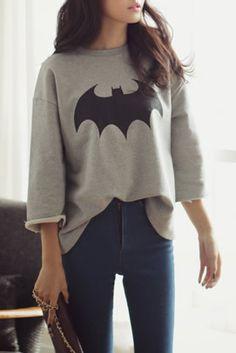 @Karen Darling/STALK www.stylestalk.com Holy Batman Sweatshirt $69