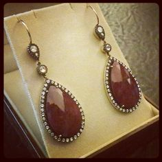 Ruby earring with rose diamond
