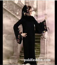 Abaya can be designed in variety of ways. Different colors of embroidery are used to decorate abaya. Some of the Abayas also contain beautiful  and colorful stone work. Also Check out Abaya Style Collection