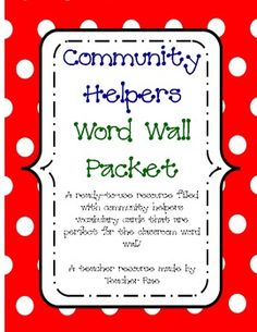 Pinay Crafter New On My Tpt Store Free Community Helpers Word Wall Doctor Theme Preschool, Preschool Word Walls, Word Wall Activities, Classroom Word Wall, Classroom Ideas, Community Workers, School Community, Social Studies Communities, Communities Unit