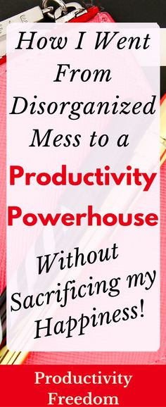Are you tired? Stressed out? Ready to throw in the towel because you just can't seem to get everything done? I was there once. Learn how I went from broke and unhappy to fulfilled and productive beyond my wildest dreams! You can find productivity freedom, I promise!