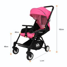 Kinderwagon HOP Tandem Double Umbrella Stroller in Black | Tandem ...