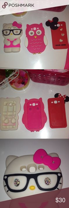 Galaxy s3 Cases 😍 So cute! My Galaxy s3 broke a couple months ago so I am selling the cases! These are my only ones that are the bigger style the cuter style.  HAS RHINESTONES ON EACH CASE !!I will upload some regular Galaxy s3 cases soon! Any questions ask me! galaxy s3 Accessories Phone Cases