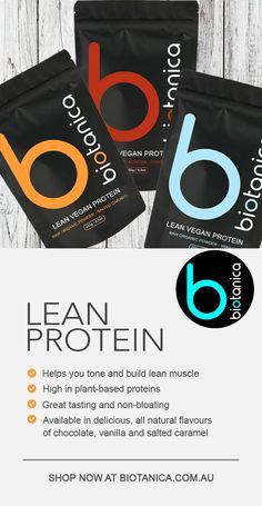 High in plant-based proteins Helps you tone and build lean muscle Delicious salted caramel flavour Full 5 Star health rating (Australian Government initiative) Refined sugar free, sweetened by nature Easily digestible and non-bloating Helps you stay fuller for longer Helps satisfy your hunger 100% natural ingredients