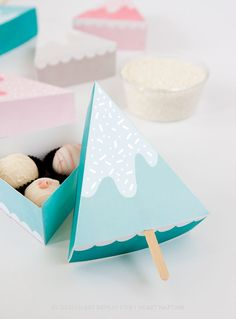printable christmas tree mini box - 100 christmas ideas