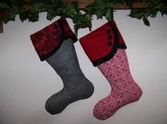 Image result for christmas stocking sewing