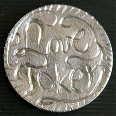ANNIE DOGWOOD LOVE TOKEN - 1935 BUFFALO NICKEL Annie, Buffalo, Carving, Personalized Items, Wood Carvings, Sculptures, Printmaking, Water Buffalo, Wood Carving