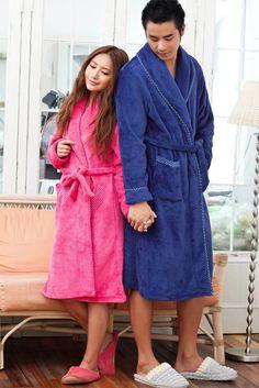 Cute Stars Fleece Bath Robe For Women & Men