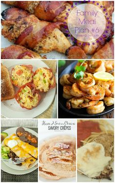 Family Dinner Meal Plan #6 by KristenDuke.com great for helping with your weekly meal planning