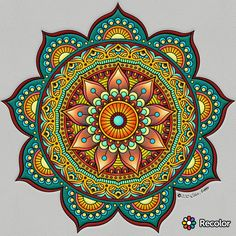– ReColor – – photo s - Malvorlagen Mandala Mandalas Drawing, Mandala Coloring Pages, Dot Painting, Mandala Design, Mandala Pattern, Mandala Tattoo, Fractal Art, Doodle Art, Mandala Art