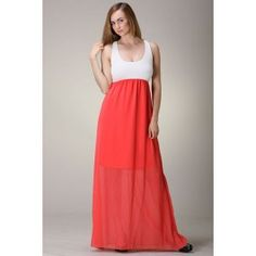 Race Back Colorblock Maxi Dress $36.99