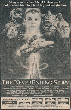 A highly enjoyable fantasy film from Wolfgang Petersen director of the gritty war drama Das Boot The Neverending Story, Childhood Movies, Fantasy Films, Tv Ads, Old Newspaper, Book Tv, Weird And Wonderful, Classic Movies, Great Movies