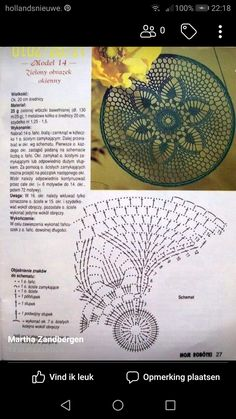 "Photo from album ""Moje robotki фото"" on Yandex. Crochet Circle Pattern, Crochet Doily Diagram, Crochet Lace Edging, Crochet Square Patterns, Crochet Circles, Crochet Blocks, Crochet Round, Crochet Chart, Crochet Doilies"