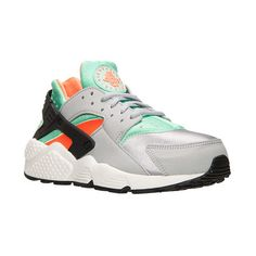 Women's Nike Air Huarache Running Shoes ($100) ❤ liked on Polyvore featuring shoes, athletic shoes, nike, sneakers, leather footwear, native american shoes, nike shoes and leather shoes