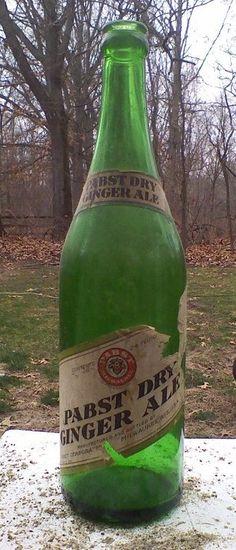 1924 Prohibition Pabst Beer Dry Ginger Ale Soda 24oz Bottle