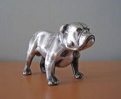 pewter bulldog figurine