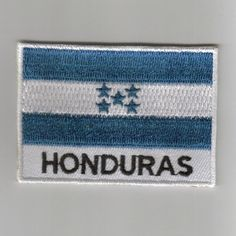 Honduras flag embroidered patches
