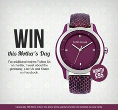 Mother's Day Watch Giveaway!