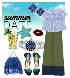 """#summerdate dinner for two..."" by regina-eghie on Polyvore featuring Christian Louboutin, Marni, STELLA McCARTNEY, Rolex, Piranesi and Fitz & Floyd"