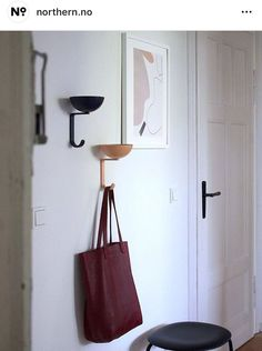 Nest wall hooks designed by Stine Aas in Apartment Design, Wall Hooks, Madewell, Tote Bag, Instagram, Exhibitions, Label, Advertising, Left Out