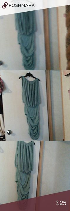 Max Studio Specialty Products Dress Sage green cotton fitted dress max studio specialty products Dresses