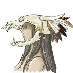 deer skull headdress - Google Search