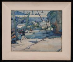 Armin Hansen watercolor,  Sold! $18,400, Fairfield Auction www.fairfieldauction.com