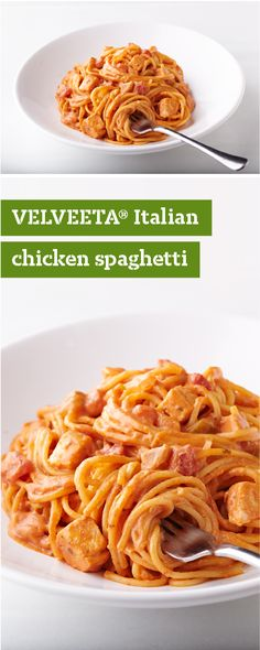 VELVEETA® Italian Chicken Spaghetti – Got some leftover cooked chicken? Give it a second shot at stardom on your dinner table with this delicious pasta recipe!