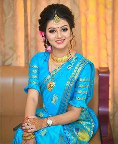 Bengali Bridal Makeup, Indian Bridal Fashion, Kerala Saree Blouse Designs, Lehenga Designs, Indian Wedding Photography Poses, Photography Ideas, Fashion Photography, Most Beautiful Bollywood Actress, Wedding Saree Collection