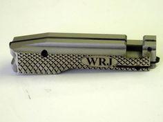 Custom laser engraved WRJ Initial bolt.   #jwhcustom #custom #cnc #laserengraved #bolt #WRJ #custombuild #rifle #rifle1022 #riflebuild #custom1022 #ruger #ruger1022 #customruger #doublescalloped #scalloped #initials #initialbolt #patterns