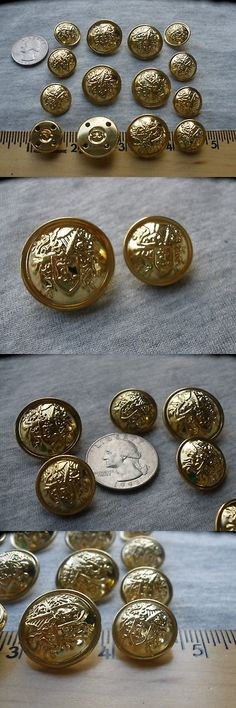 10 x Gold metal look plastic Buttons knot design with shank 12.5mm very smart
