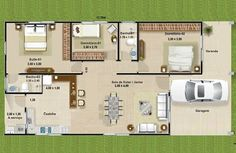 100 M2, Home Design Plans, Sweet Home, Floor Plans, Exterior, House Design, Flooring, How To Plan, Architecture