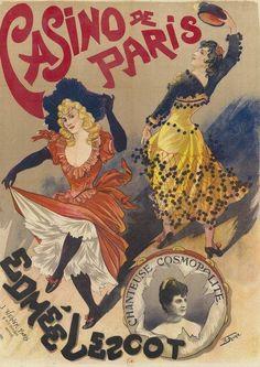 Poster by Georges de Feure (1868-1943), 1890, Casino de Paris, Edmée Lescot (cosmopolitan singer).