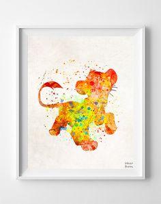 Simba Art Simba Poster Lion King Art Simba Print Disney