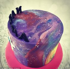 Space hopper: Equal parts enchanting, nerdy and galactic, the galaxy cake sees culinary Instagrammers share photos of their amazing space-inspired creations
