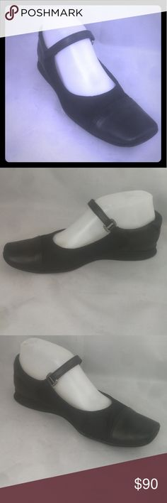 """Prada Mary Jane Sports Women Size 37 US Flats Pre-owned Excellent Condition Normal Wear. Front of both shoes has minor scuff marks due to prior wear. Heels shows minor signs of wear.   Please note that this shoe is 37"""", Prada's Chart says 6.5""""...  PLEASE refer to all pics of this item to see all details and defects. I'm available to answer all your questions about this item. Prada Shoes Flats & Loafers"""
