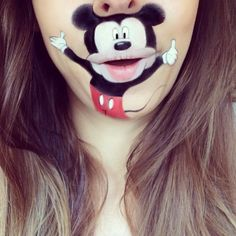 carrtoon lip art mickey mouse