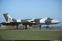 """XM597 of 50 Squadron, RAF Waddington. While serving with 101 Squadron, this aircraft performed Shrike missile attacks (""""Black Buck"""") on Argentine military defences during the Falklands War. During one such raid, the refuelling probe broke while refuelling from a Victor tanker causing an enforced diversion to Galeao Airport at Rio de Janeiro, Brazil. The aircraft was briefly impounded and eventually flew out too Ascension on 10.6.82."""