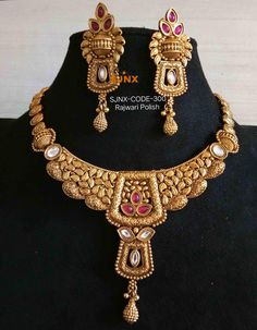 Fancy Jewellery, Gold Jewellery Design, Trendy Jewelry, Fashion Jewelry, Gold Jewelry, Bridal Necklace, Wedding Jewelry, Necklace Set, Gold Necklace