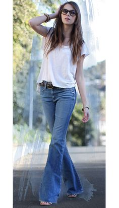 2a66c4c84 Comfy jeans  -) Love bell bottoms with wedges.