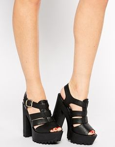 Image 4 of New Look Proddy Grunge Sole Heeled Sandals -- #grunge #90s #nineties